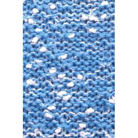 Be MaaMaa Dlhý perličkový svetrík PENY melírkovaný - modrý