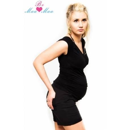 Be MaaMaa Tehotenské kraťasy Bria - čierne