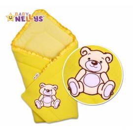 Zavinovačka Baby Nellys - Medvídek Teddy - jersey - krémovo / žltá