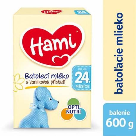 Mlieko dojčenské HAMI 24+ s príchuťou vanilky 600g