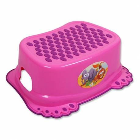 Dětské protiskluzové stupátko do koupelny růžové tlapky