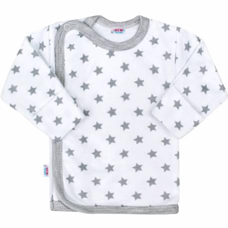 Kojenecká košilka New Baby Classic II šedá s hvězdičkami