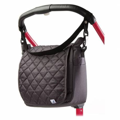 Prošívaná taška na kočárek CARETERO graphite
