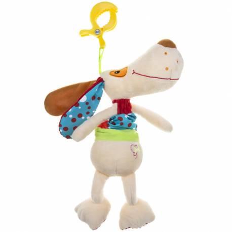 Plyšová hračka s hracím strojkem Akuku pejsek