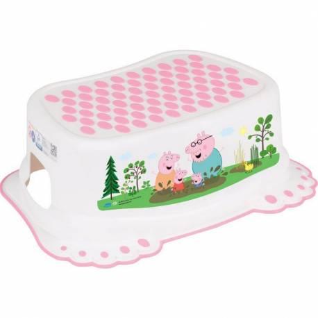 Dětské protiskluzové stupátko do koupelny Prasátko Peppa white-pink