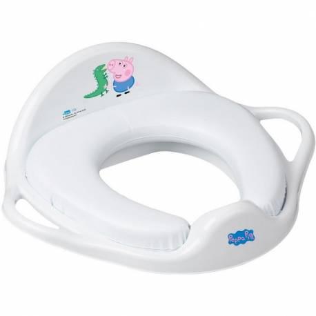 Dětské sedátko na WC měkké Prasátko Peppa white-blue