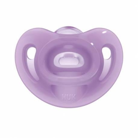 Silikonové šidítko Sensitive NUK 0-6m fialový
