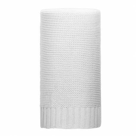 Bambusová pletená deka NEW BABY 100x80 cm bílá