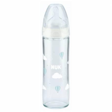 Skleněná kojenecká láhev NUK New Classic 240 ml white
