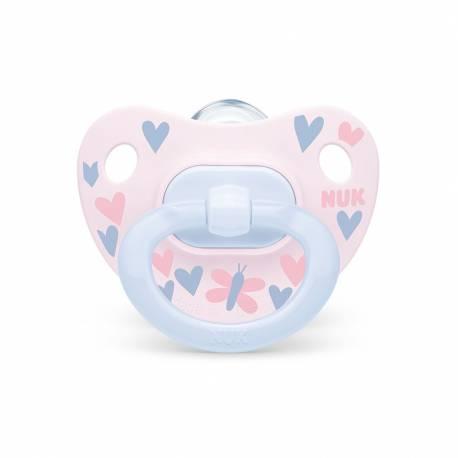 Šidítko NUK Happy Days 0-6m růžovo-modrý BOX