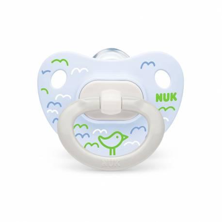 Šidítko NUK Happy Days 0-6m zeleno-modrý BOX