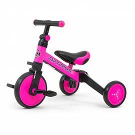 Dětská tříkolka 3v1 Milly Mally Optimus pink