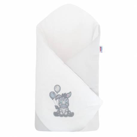 Zavinovačka s výztuží New Baby Zebra exclusive bílo-šedá