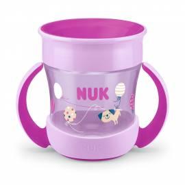 Dětský hrníček Mini Magic NUK 360° s víčkem fialový
