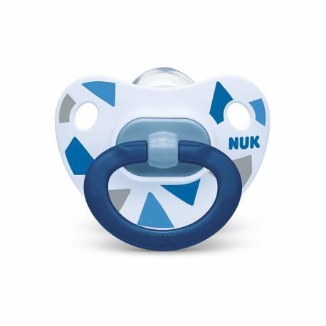 Šidítko NUK Happy Days 6-18 m modrý BOX