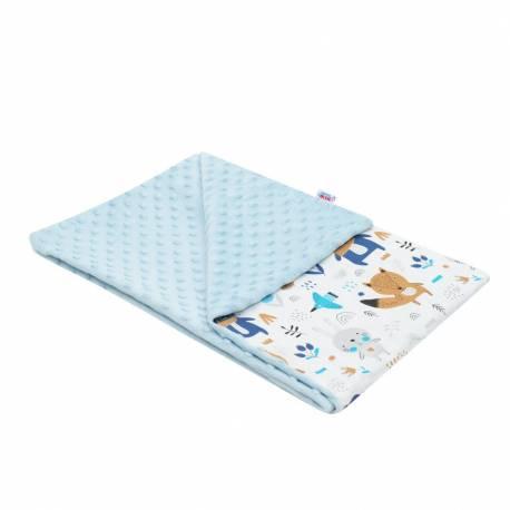 Dětská deka z Minky New Baby Medvídci modrá 80x102 cm