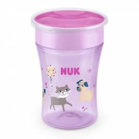 Dětský hrníček Magic NUK 360° s víčkem pink