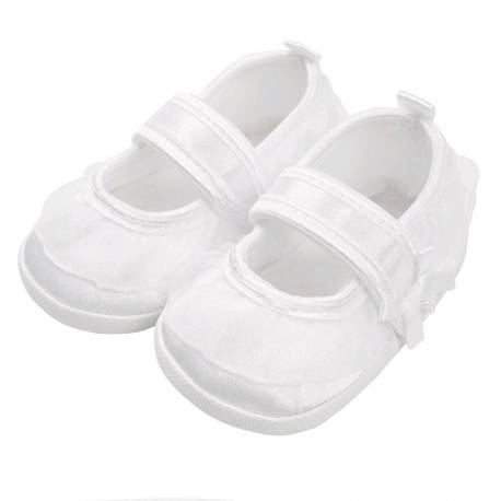 Kojenecké capáčky New Baby saténové bílé 6-12 m