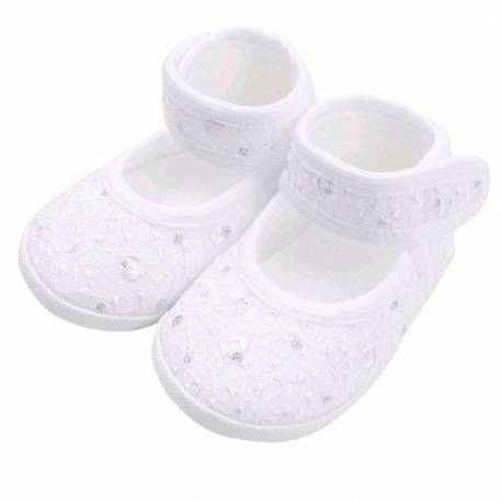 Kojenecké capáčky New Baby stříbrno-bílé 3-6 m