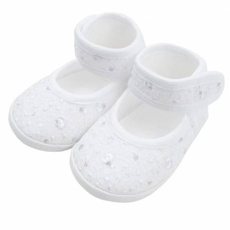 Kojenecké capáčky New Baby stříbrno-bílé 12-18 m
