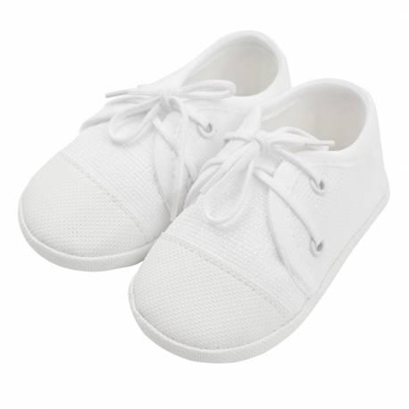 Kojenecké capáčky tenisky New Baby bílé 0-3 m