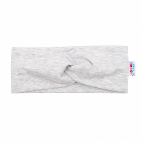 Kojenecká čelenka New Baby Style světle šedá 40,5 cm