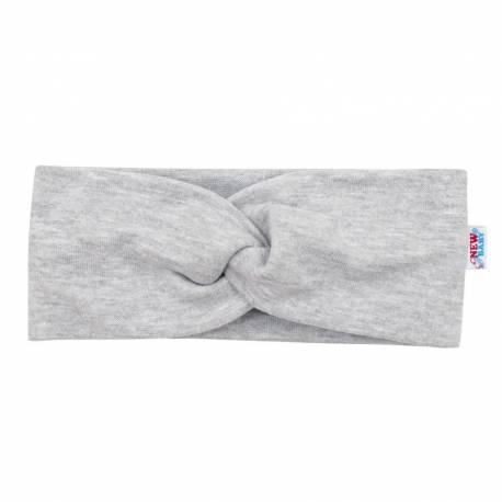 Kojenecká čelenka New Baby Style šedá 40,5 cm