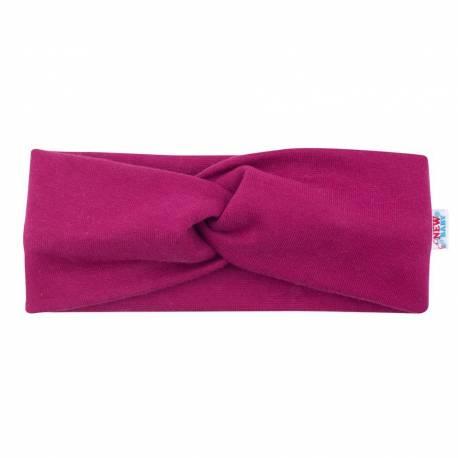 Kojenecká čelenka New Baby Style tmavě fialová 40,5 cm