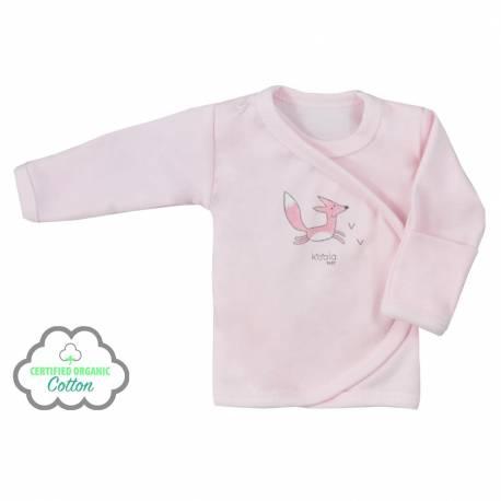 Kojenecká košilka z organické bavlny Koala Lesní Přítel růžová