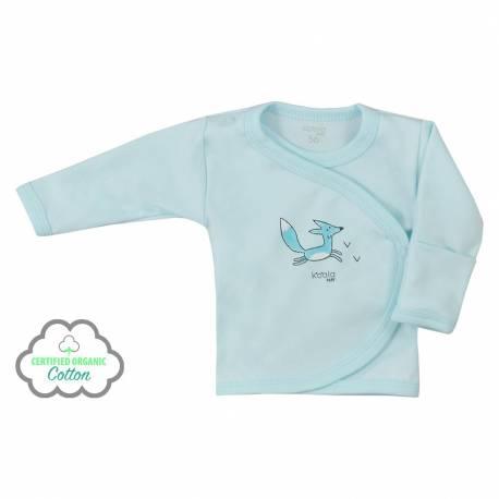 Kojenecká košilka z organické bavlny Koala Lesní Přítel modrá