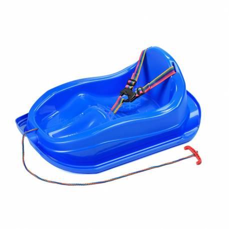 Plastové sáňky s opěradlem BAYO MINI modré