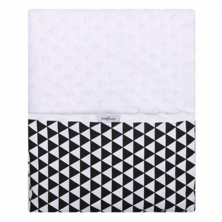 Dětská oboustranná deka z Minky Womar 75x100 černo-bílá