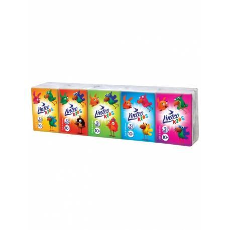 Papírové kapesníky Linteo Kids mini 10x10ks bílé 3-vrstvé
