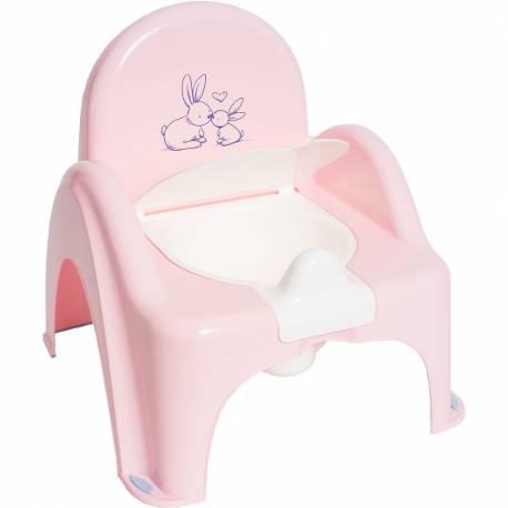 Dětský nočník s poklopem Bunny růžový
