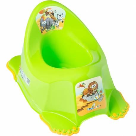 Dětský nočník protiskluzový Safari zelený