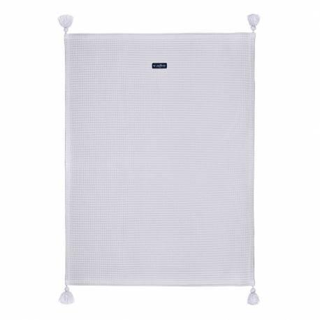 Dětská bavlněná deka vafle Womar 75x100 šedá