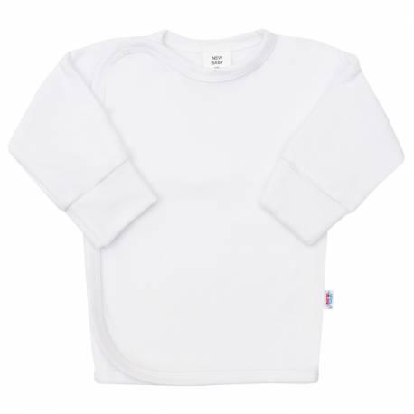 Kojenecká košilka s bočním zapínáním New Baby bílá