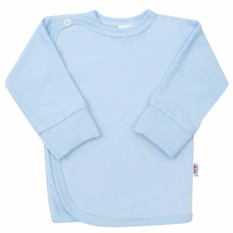 Kojenecká košilka s bočním zapínáním New Baby světle modrá