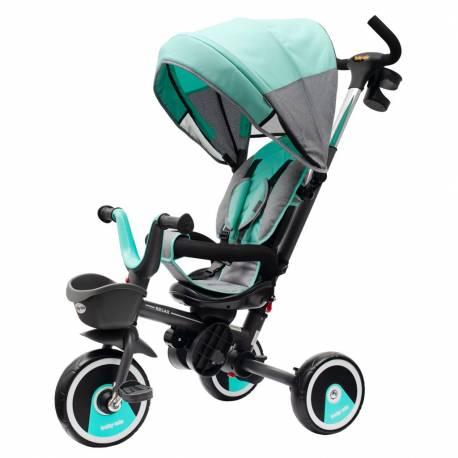 Dětská tříkolka Baby Mix 5v1 RELAX 360° mátová