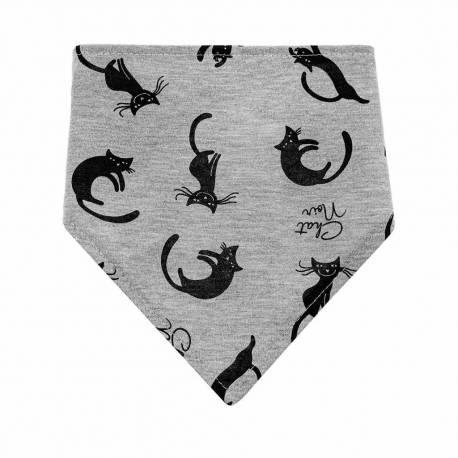 Kojenecký šátek na krk bryndáček Akuku Kočky