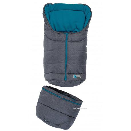 ALTABÉBÉ Fusak zimný Pear 2v1 predlžovací tmavo šedá/modrá