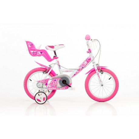 """DINO BIKES - Detský bicykel 164RN so sedačkou pre bábiku a košíkom - 16"""""""