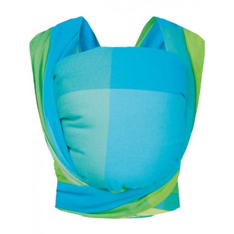 Šátek Womar na nošení dětí Be Close v Eko krabici tyrkysovo-zelený