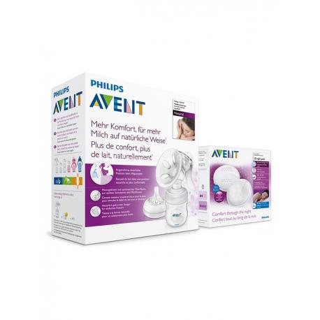 Ruční odsávačka Avent Natural se zásobníkem 125ml+dárek prsní vložky jednorázové