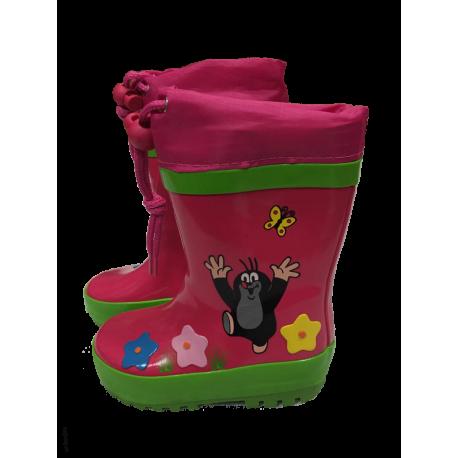 PiDiliDi Detské gumáky Krtko - ružové