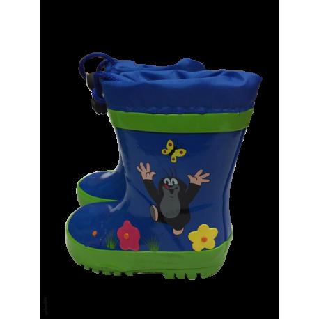 PiDiliDi Detské gumáky Krtko - modré