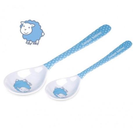 Canpol Babies Melamínové lyžičky 2ks - modré